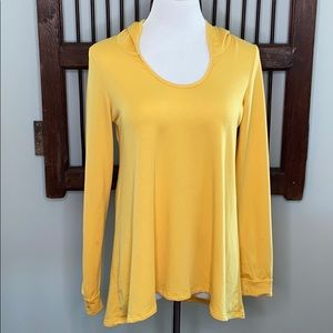FREELOADER SUNSHINE YELLOW HOODIE LS TOP SIZE L